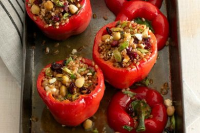 WW - Farro and Feta-Stuffed Peppers