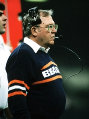 Assistant Coach Buddy Ryan of the Chicago Bears on the sideline during Super Bowl XX, a 46-10 victory over the New England Patriots on January 26, 1986, at the Louisiana Superdome in New Orleans, Louisiana. (AP Photo / Al Messerschmidt)